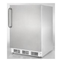 Brand: SUMMIT, Model: SCFF55LADASSHV, Color: Stainless Cabinet with Pro Handle