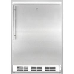 Brand: SUMMIT, Model: FS62L7ADABIFR, Color: Stainless Door with Vertical Thin Handle