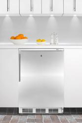 Brand: SUMMIT, Model: FS62L7BISSHV, Color: Stainless Door with Vertical Thin Handle
