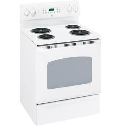 Brand: GE, Model: JBP35BKWH, Color: White with White Door