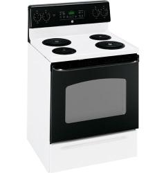 Brand: GE, Model: JBP35BKWH, Color: White with Black Door