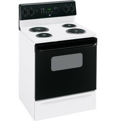 Brand: GE, Model: JBP22BKWH, Color: White with Black Door