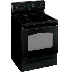 Brand: GE, Model: JBP66WKWW, Color: Black with Black Door