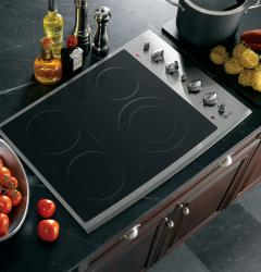Brand: General Electric, Model: PP932SMSS, Color: Black Surface with Stainless Steel Trim