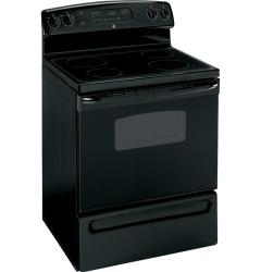 Brand: GE, Model: JBP62DMWW, Color: Black with Black Glass Door
