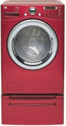 Brand: LG, Model: WM2487HRM, Color: Wild Cherry Red
