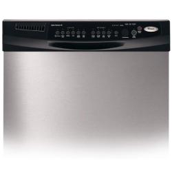 Brand: Whirlpool, Model: GU2500XTPB, Color: Stainless Steel/Black Console