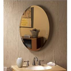 Brand: Broan, Model: 52WH184PV, Style: Oval Beveled Mirror Medicine Cabinet