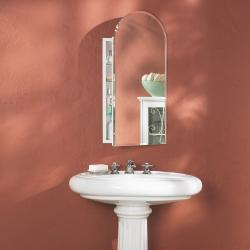 Brand: Broan, Model: 52WH244PA, Style: Arch Beveled Mirror