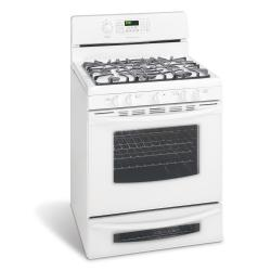 Brand: Frigidaire, Model: GLGFM98GPB, Color: Pearl White