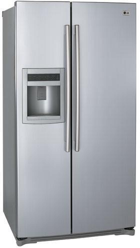 lg lsc26905sw 25 9 cu ft side by side refrigerator with. Black Bedroom Furniture Sets. Home Design Ideas