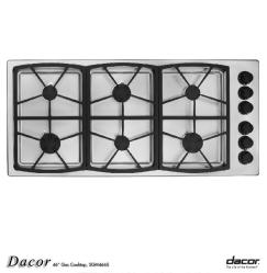 Brand: Dacor, Model: SGM466BH, Fuel Type: Stainless Steel/Natural Gas