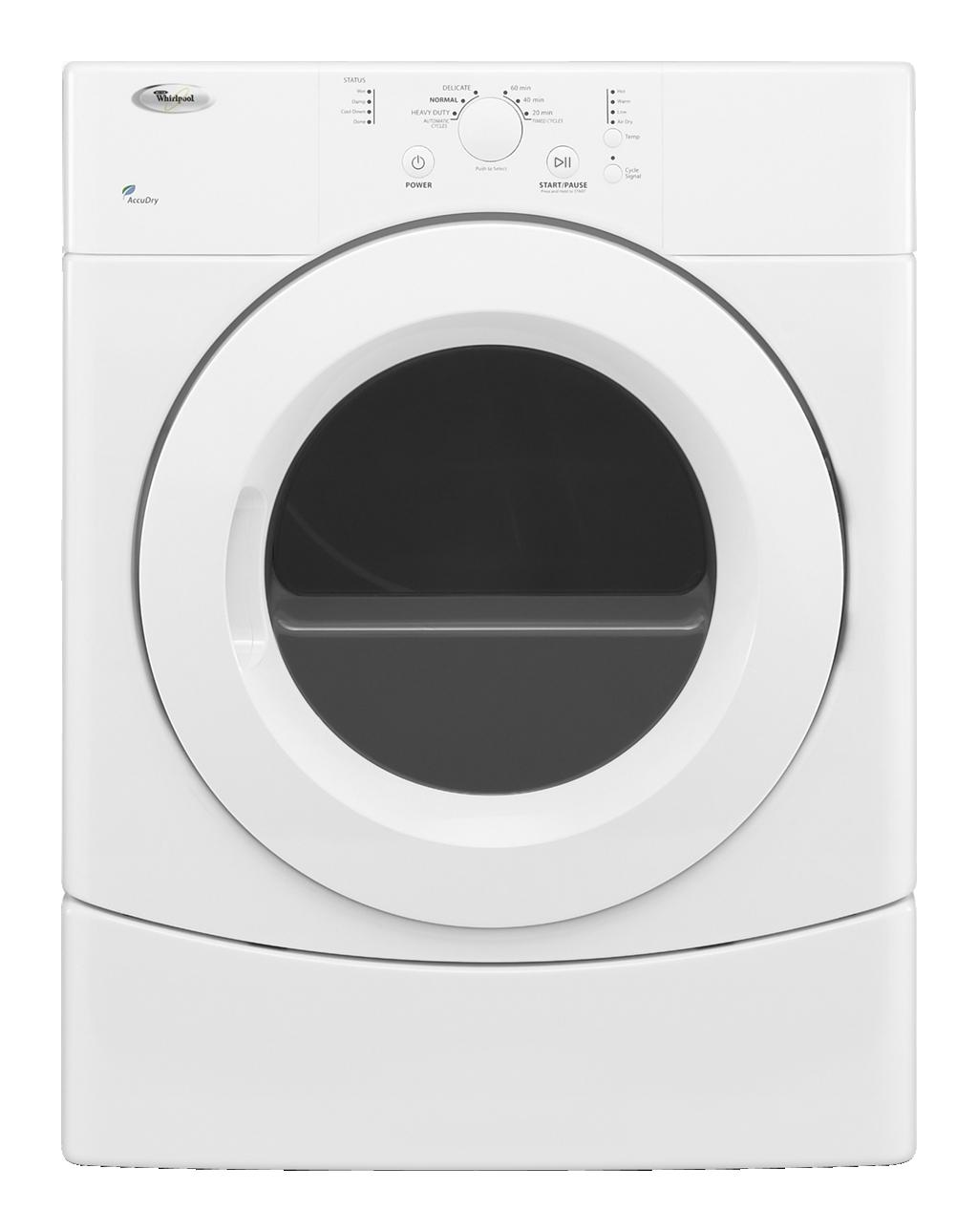 Whirlpool Wgd9050xw 27 Quot Front Load Gas Dryer With 6 7 Cu