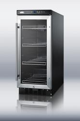 Brand: SUMMIT, Model: SCR1536SSTB, Color: Stainless Steel Trimmed Glass Door