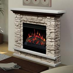 Brand: Dimplex, Model: GDS20ST1037, Style: Lincoln Stone Electric Fireplace