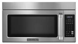 Brand: KitchenAid, Model: KHMC1857XSP, Style: 1.8 cu. ft. Over-the-Range Microwave Oven