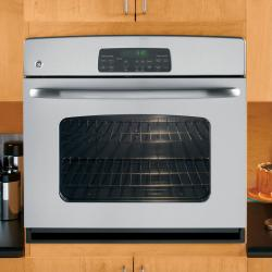 Brand: GE, Model: JTP30DPBB, Color: Stainless Steel with Black Control Panel