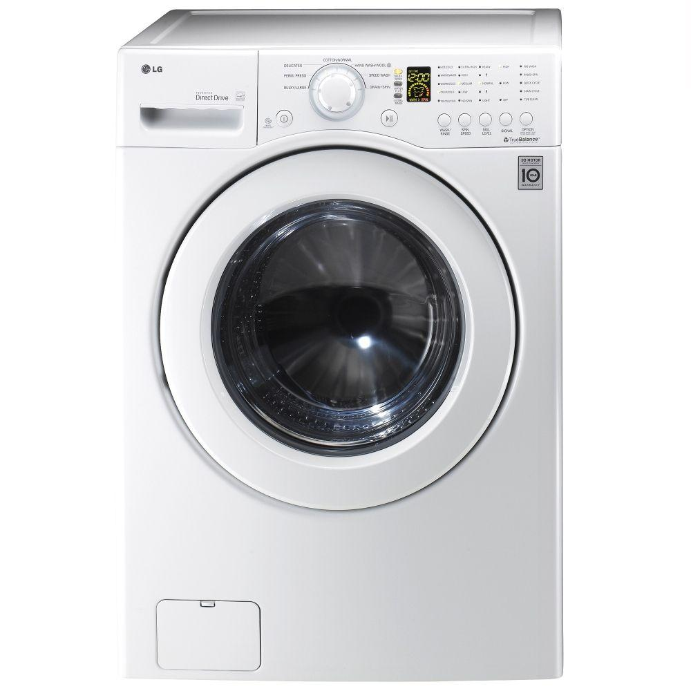 "Lg WM2140CW 27"" Front Load Washer With 3.5 Cu. Ft. Large"