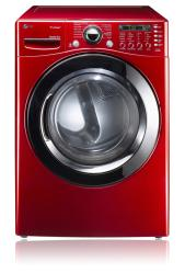 Brand: LG, Model: DLGX3361R, Color: Wild Cherry Red