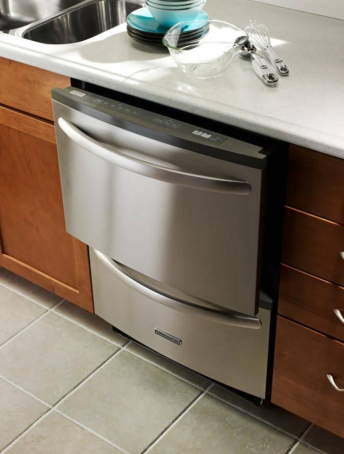 Kitchenaid Kudh03dtss Fully Integrated Double Drawer