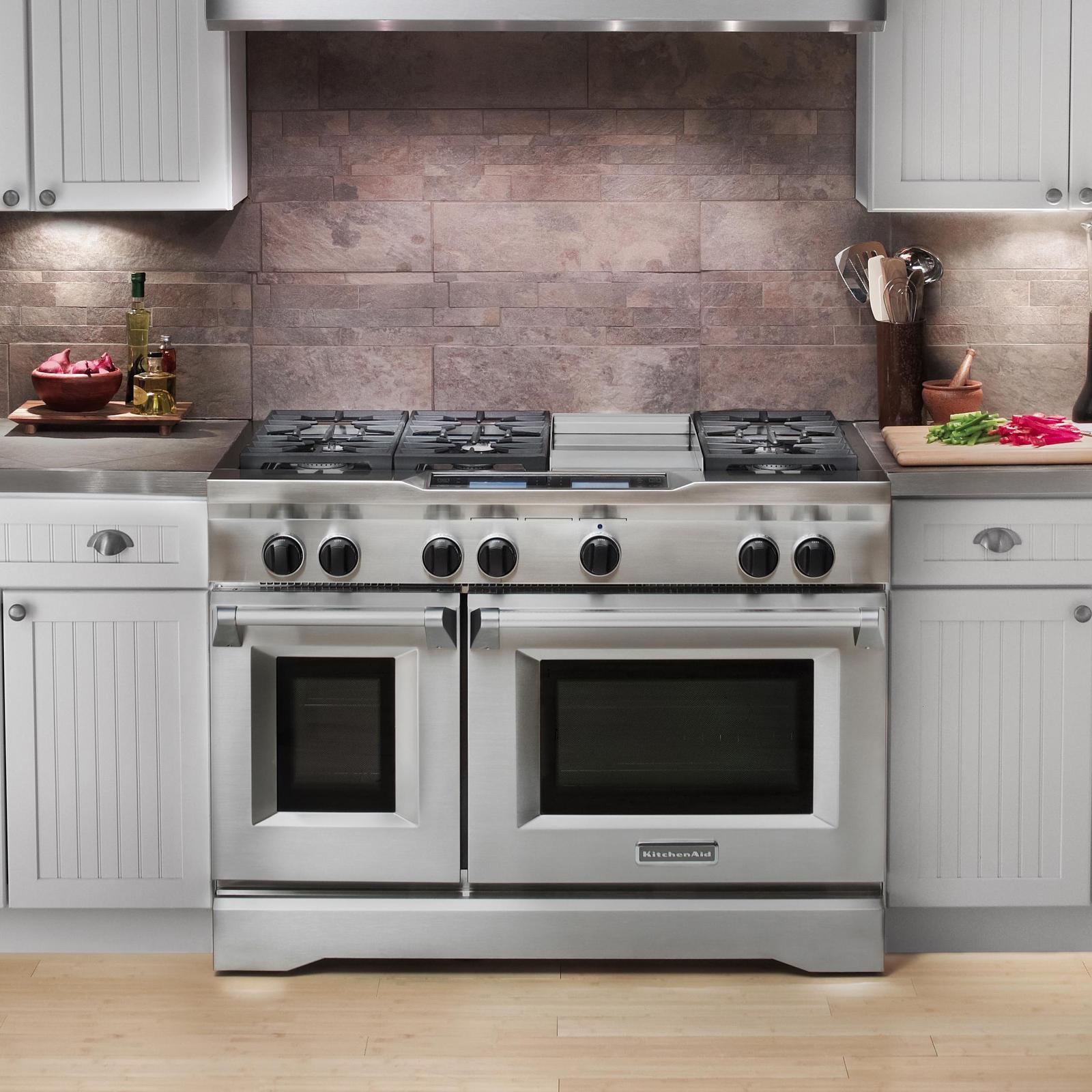 Kitchenaid Kdru783vss 48 Quot Commercial Style Dual Fuel Range