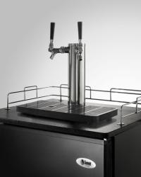 Brand: SUMMIT, Model: KIT595BRSTWIN, Style: Brass plated twin tap system