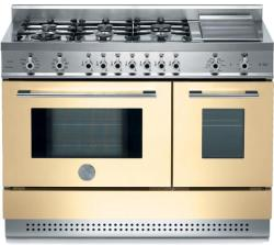 Brand: Bertazzoni, Model: X486GPIRVELP, Color: Cream, LP Gas
