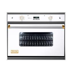 Brand: Viking, Model: VESO166BR, Color: White with Brass Accent