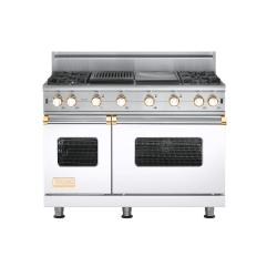 Brand: Viking, Model: VGCC5484GQCNLP, Fuel Type: White with Brass Accent