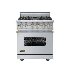 Brand: Viking, Model: VGSC5304BWS, Fuel Type: Stainless Steel with Brass Accent