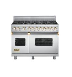 Brand: Viking, Model: VGSC5488BWH, Fuel Type: Stainless Steel with Brass Accent