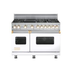 Brand: Viking, Model: VGSC5486QBKBR, Fuel Type: White with Brass Accent