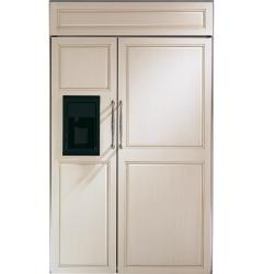 Brand: GE, Model: ZISB480DX, Color: Requires Custom Panels, Black Dispenser