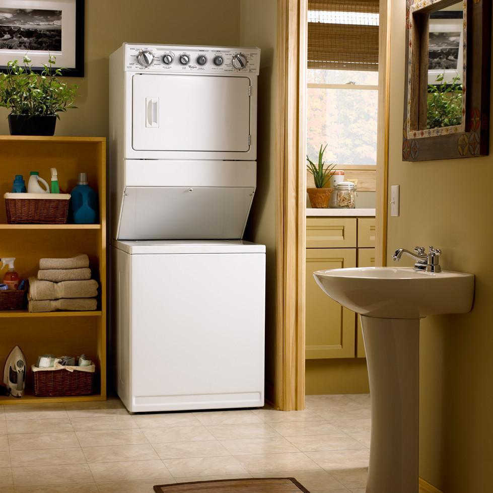 Whirlpool Wet3300xq 27 Quot Electric Laundry Center With 2 5