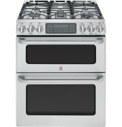 Brand: General Electric, Model: CGS990SETSS, Style: 30 Inch Slide-in Double Oven Gas Range