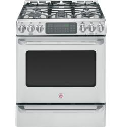 Brand: General Electric, Model: C2S985SETSS, Style: 30 Inch Slide-in Dual Fuel Range
