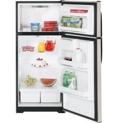 Brand: HOTPOINT, Model: HTM17BBSSA, Style: 16.6 cu. ft. Freestanding Top-Freezer Refrigerator