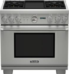 Brand: THERMADOR, Model: PRD364JDGU, Style: 36 Inch Pro-Style Dual-Fuel Range