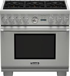 Brand: THERMADOR, Model: PRD366JGU, Style: 36 Inch Pro-Style Dual-Fuel Range