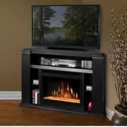 Brand: Dimplex, Model: GDS251154BAX, Style: Electric Fireplace with glass ember bed