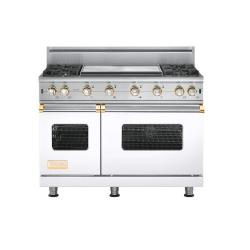 Brand: Viking, Model: VGCC5484GWH, Color: White with Brass Accent