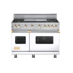 Brand: Viking, Model: VGSC5484GSSBR, Color: White with Brass Accent