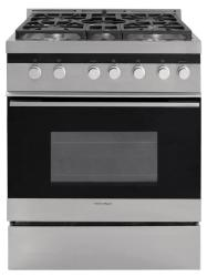 Brand: Fisher Paykel, Model: OR30SNDGX1, Fuel Type: Liquid Propane