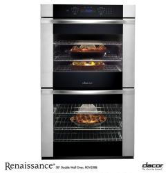Brand: Dacor, Model: RO230FS, Color: Black Glass with Vertical Stainless Trim