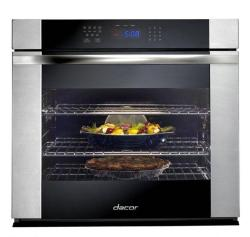 Brand: Dacor, Model: RO130S, Color: Black Glass with Vertical Stainless Trim
