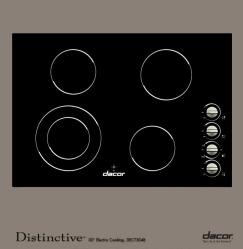 Brand: Dacor, Model: DECT304B, Color: Black Ceramic Glass