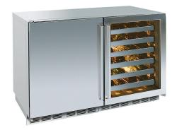 Brand: PERLICK, Model: HP48RWS2L4R, Style: Solid Stainless Left Hinge/ Stainless Framed Glass