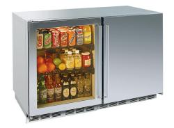 Brand: PERLICK, Model: HP48RWS2L4R, Style: Stainless Framed Glass Hinge Left/ Solid Stainless