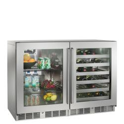 Brand: PERLICK, Model: HP48RWS2L4R, Style: Stainless Framed Glass Doors/1 Right and 1 Left Hi