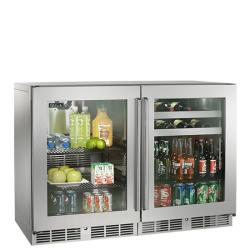 Brand: PERLICK, Model: HP48RBS3L3R, Style: Glass door, hinge left / Glass door, hinge right